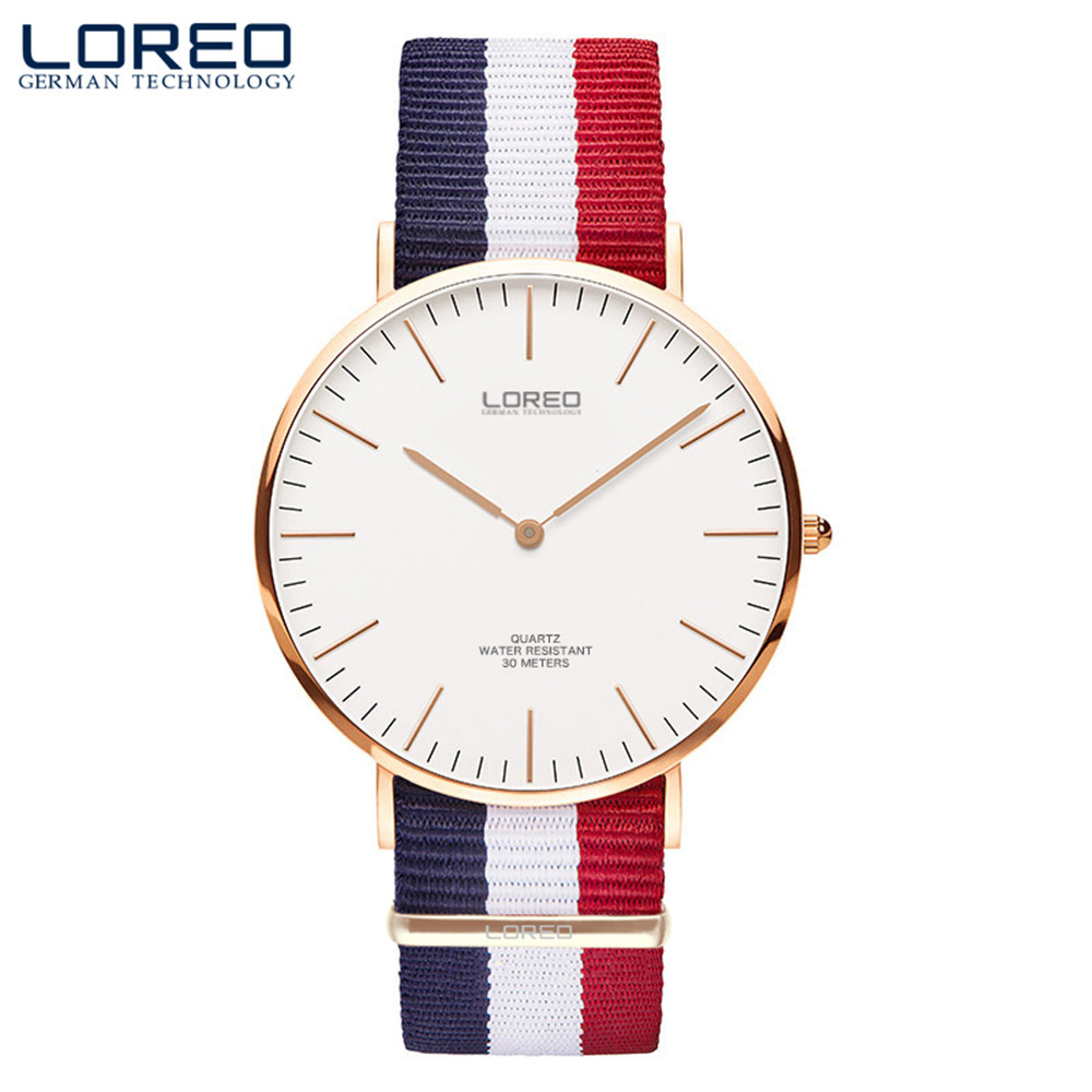 Quartz Watch Men Fashion Simple Stylish Luxury brand LEREO Watches Men nylon Strap Thin Dial Clock Man Casual Quartz-watch<br>