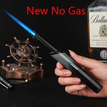 ( Lighter No gas) Honest metal torch Jet windproof Butane gas Lighter,Inflatable.small flame Gadgets