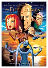Cartoon The Fifth Element Film Poster Classic Retro Vintage Kraft Decorative DIY Wall Sticker Home Bar Posters Decoration Gift