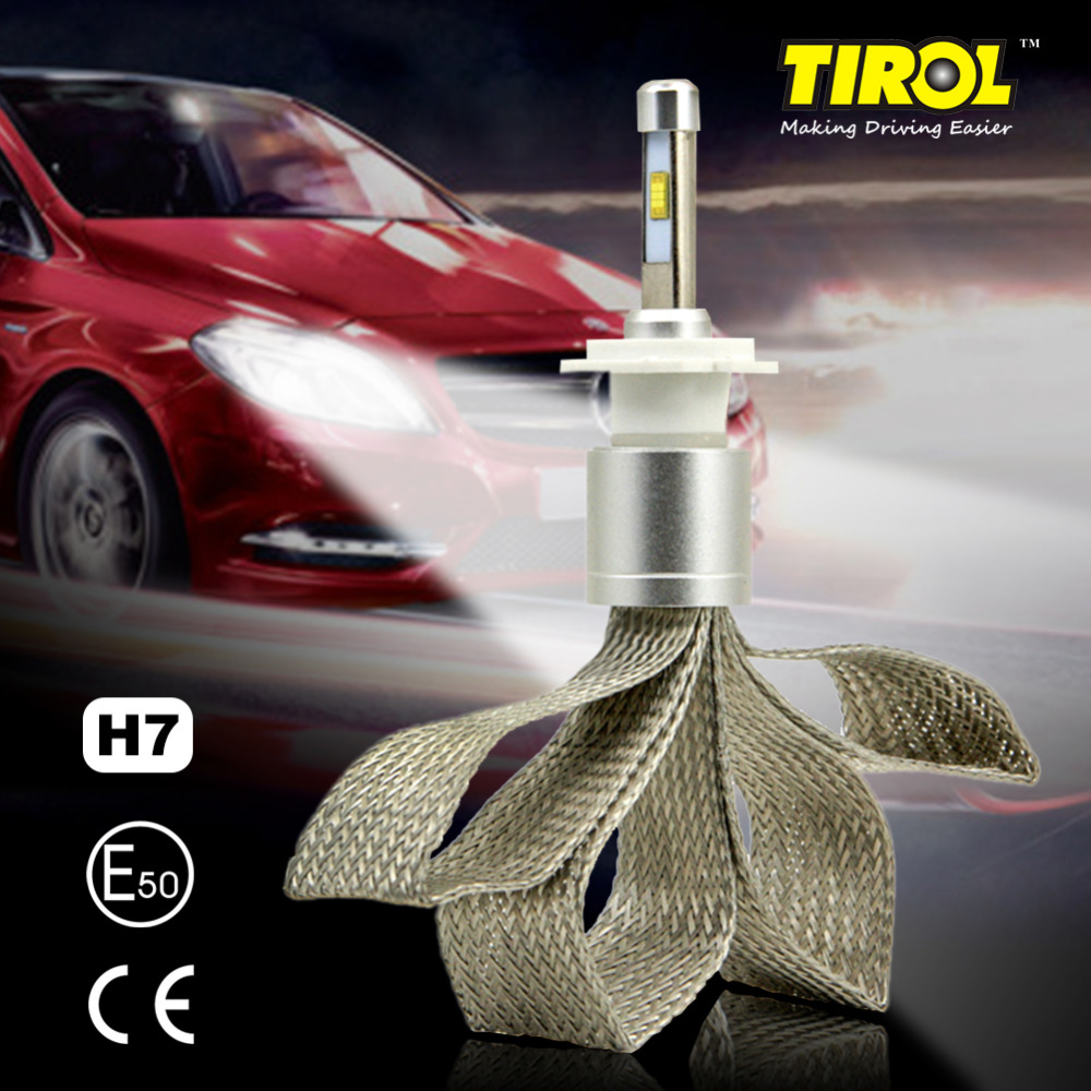 TIROL 2PCS LED Headlight Bulbs 40W 4800LM Headlight Kit Beam Bulbs 6000K High Power White Car Light SourceH1H3H4H7H8H9/9005/9006<br><br>Aliexpress