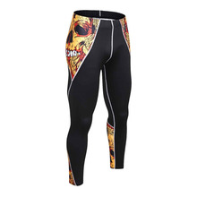 2017 Mens Compression Pants Jogger Fitness Excercise Bodybuilding Compression Tights Long trousers Pants wholesale(China)