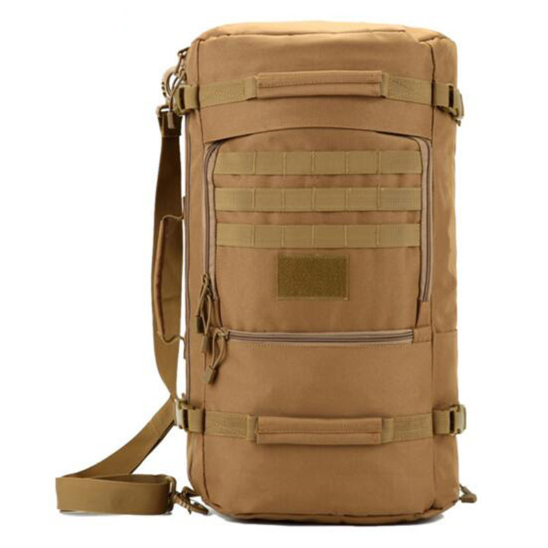 Mens nylon backpacking 17-inch flat-panel travel multi-functional 60 litres leisure best backpack bag student free holograms<br>
