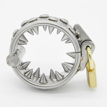 Buy Stainless Steel 2 Rows Teeth Penis Rings,Cock Ring Pendant Scrotum Testicle ball stretcher,Male Chastity Cage,Sex Toys Men