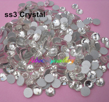 Free Shipping! 1440pcs/Lot, ss3 (1.3-1.5mm) Crystal/Clear Flat Back ( Nail Art ) Non Hot Fix Glue on Rhinestones(China)