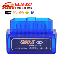 2017 Top selling V2.1  ELM327 OBDII Bluetooth Code Reader  Support Android  Windows and Symbian Free Shipping