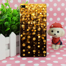 B1508 Gold Rain Shine Holiday Background Transparent Hard Thin Case Skin Cover For Huawei P 6 7 8 9 Lite Plus Honor 6 7 4C 4X G7(China)