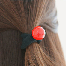 10Pcs Cute Bead Elastic Hair Rings Ties Styling Tools Rubber Elastic Rings For Hair Ponytail Holder Girls Hair Accessories