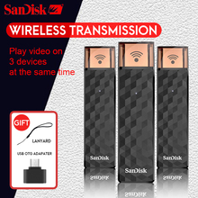 SanDisk Connect Wireless Stick Pen Drive USB Flash Drive SDWS4 Wi-Fi +USB 2.0 16GB 32GB 64GB 128GB 200GB 256GB for Wifi pendrive(China)
