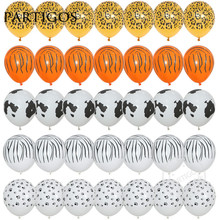 10pcs/lot 12inch 3.2g Animal Latex Balloons tiger zebra dog leopard birthday theme party balls helium inflatable globos kid gift(China)
