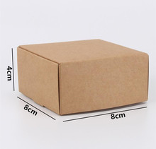 50pcs/lot-8*8*4cm Kraft Paper Patry Boxes Craftwork Gift Ear Rings Storage Boxes Chocolate Candy Aircraft Boxes