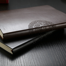 Great Leather Notebook Korea Stationery Advanced Customization Logo Vintage PU Leather Notebook and Journal Diary Thick Notepad(China)