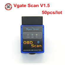 50pcs/lot Hot ELM327 Vgate Scan Advanced OBD2 Bluetooth Scan Tool(Support Android And Symbian) Software V1.5 DHL Free(China)