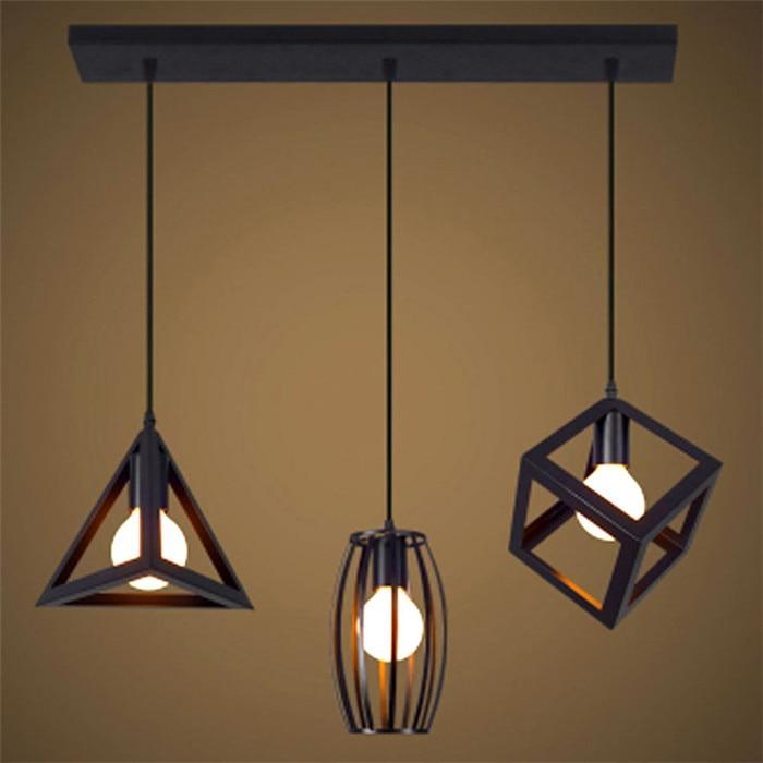 American village retro ceiling lamp Nordic bar loft bird cage warehouse bar aisle restaurant chandelier geometry chandeliers<br><br>Aliexpress
