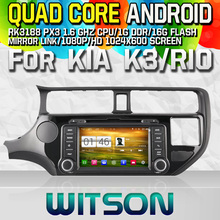 WITSON S160 CAR DVD for KIA K3 RIO 2012 STEREO NAVIGATION Quad Core Android 4.4+CAPACITIVE 1024X600 HD+16G Flash+PIP+WIFI/DVR/3G