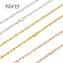 TDIYJ Top Sale 80CM Silver Gold Rose Gold Stainless Steel Ball Chain for My Coin Pendant Necklace Bead Chain for Women 10Pcs