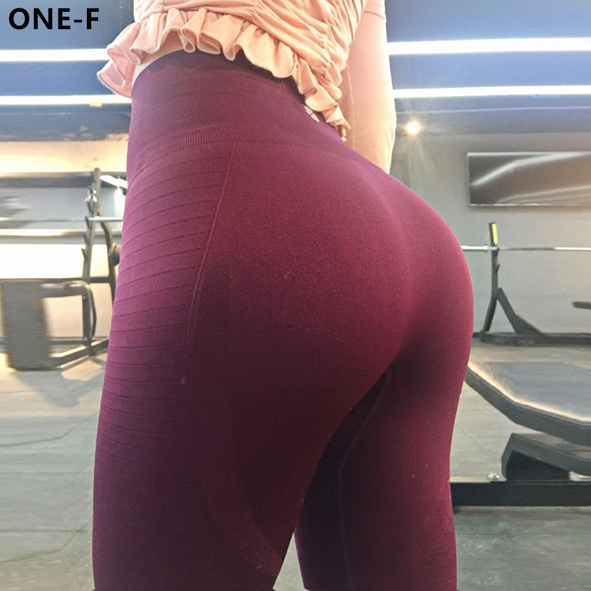 Ladies Yoga Pants Leggings Sports Fitness Gym Stretch Booty Trainning Trousers