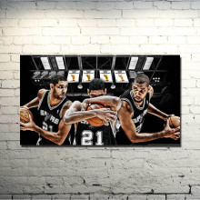 San Antonio Spurs Best player Art Silk Poster 13x24 24x43 Basketball Spotrs Picture Tim Duncan Tony Parker For Wall Decor 027(China)