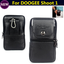 Buy Genuine Leather zipper pouch Belt Clip Waist Purse Case Cover DOOGEE Shoot 1 5.5inch Mobile Phone Bag case Free for $16.55 in AliExpress store
