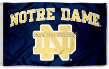University of Notre Dame Fighting Irish Flag ND Large Banner Flag 3' x 5' Banner brass metal holes Flag(China)