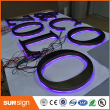 Wholesale Metal Letter Signs LED Channel Signs Stainless Steel Backlit Letter for Building Advertising(China)