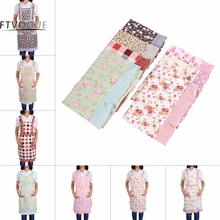 1Pc Chef Apron 7 Patterns Cute Women Apron Dresses With Pockets For Kitchen Restaurant Cooking Wearing