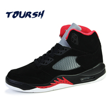TOURSH Unisex High Top Basketball Shoes Men Women Breathable Boots Loves Sports Air Basketball Sneakers zapatillas de basquet(China)