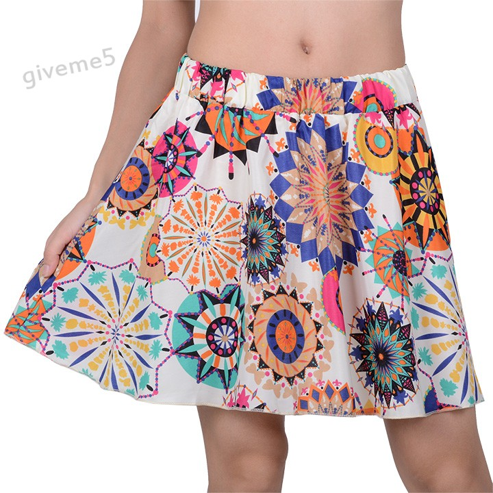 New Hot 2017 18 Types Women's Fashion Hight Elastic Waist Short Skirt Chiffon Pleated Mini Skirts B2