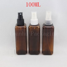 100ml Brown Sprayer Pump Plastic Container,Makeup Setting Spray,Empty Cosmetic Containers,Glass Perfume Bottles Wholesale,2017