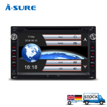 A-Sure DVD Player FM/AM 2 Din GPS for VW PASSAT B5 JETTA BORA TRANSPORTER T5 GOLF 4 SHARAN FORD GALAXY SEAT Sat Nav Navigation(Hong Kong)