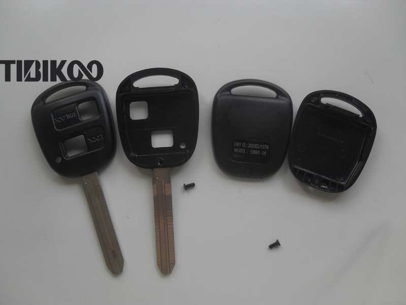 2 Buttons Toyota Ville  Previa Camry Prado Remote Key Shell TOY43 Blade (22)-1