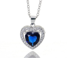 Burst models in Europe and America peach heart necklace AAA CZ Pendant