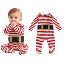 Fashion Kids Infant Baby Boy Girl Christmas Suit Romper Jumpsuit Outfits Clothes christmas baby children's rompers #CRS