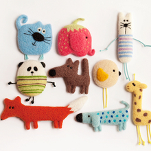RUBIHOME Wholesale(9 sets/lots)DIY Wool Felt Materail Package Craft Love Animals Cat Dog Fox Design for Brooch Accessories(China)