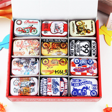 New Hot!! 36Piece/lot Many Color Tin Box Mac Makeup Cosmetic Jewelry Box Mint Tea Container Household Best Gift For Girls