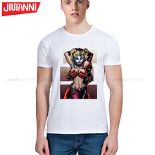 Newest 2017 men's fashion Deadpool With Hot Lady Printed T-Shirt For Men Boy Novelty Men's round neck short sleeve T shirt S-5XL