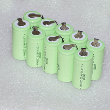 Stock Clearance 10PCS UNITEK 1.2V rechargeable battery 2000mah Sub C SC ni-mh nimh cell with pins for power drill,vacuum cleaner