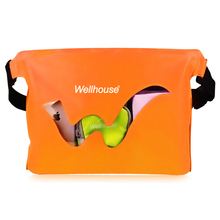 Waterproof Swimming Waist Bags Dry Sack For Phone Money Clothing Storage Blue Orange Green Colors Outdoor Bag For Water Sport(China)