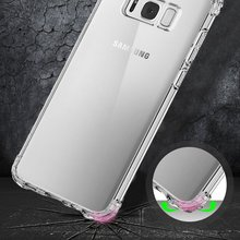 Transparent Air Cushion Soft TPU Case Skin For Galaxy S8/S8 Plus Business For Samsung 5.8/6.2 Inch Clear Full Protection Cover