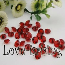 Free Shipping--1000pcs 4 Carat (10mm) Crimson Red Diamond Confetti Wedding Favor Supplies Table Scatter--New Arrivals