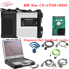 Newest MB STAR C5+CF30 Laptop+2017.9 HDD Software mb star C5 das xentry for car&truck Multiplexer ready to use DHL Free Shipping