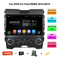 Quad Core Android 5.1 For Ford Edge 2012-2015 Touch Screen Car DVD GPS Navigation Central Multimedia Android System For Edge(China)