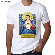 yiwuliming FREDDIE MERCURY TRIBUTE victory T-shirt top freddy mercury's queen Fashion t shirt men new DIY Style high quality