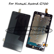 Black LCD+TP+Frame For Huawei Ascend G700 LCD Display with Touch Screen Digitizer Smartphone Replacement Order Tracking