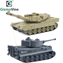 RC Tank 2 pcs/set 27Mhz 40Mhz 9CH RTR GE Tiger 103 VS US M1A2 Remote Control Fighting Battle Tank with Musical and Flashing(China)