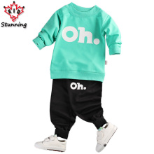 18M-5T Baby Boys Clothing Sets 2017 Spring&Autumn Kids Clothes Casual Boys Girls Clothes Costume Children Clothing Sets for Boys(China)