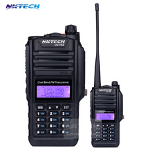 2PCS Walkie Talkie Waterproof Portable Radio NKTECH IP57 UV-7RX Dual Band Transceiver SOS FM Radio Station CB Ham +Cable+Headset