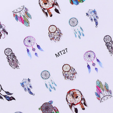 12 Patterns Nail Art Sticker Dream Catcher Fantasy Owl Manicure Nail Decoration DIY Tattoos Manicure Water Transfer Decals