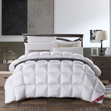 3D Luxury Grade A Natural 90% DUCK DOWN COMFORTER Queen King Size 500FP Quilt Hypo Allergenic Bedroom Winter Season Pink White