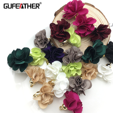 GUFEATHER Flowers pendant tassels/Brush earrings accessories/jewelry accessories/jewelry findings/jewelry making