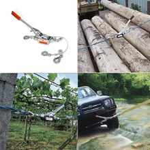 FREE SHIPPING HEAVY DUTY 2 TON 2 HOOK CABLE PULLER HAND WINCH TURFER FOR CARAVAN BOAT TRAILER